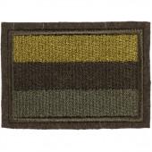 Нашивка на рукав с липучкой Флаг РФ 35х55 мм полевой вышивка шёлк