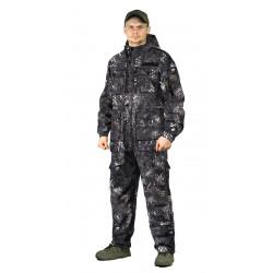 Костюм демисезонный СУМРАК-ВЕСНА/ОСЕНЬ куртка/брюки цвет:, камуфляж ЧЕРНЫЙ, камуфляж