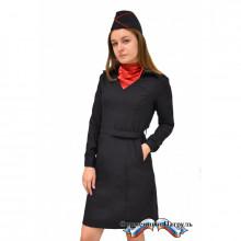 Платье Полиция, длинный рукав, (ткань Пикассо)