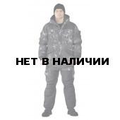 Костюм зимний ГЕРКОН куртка/брюки, камуфляж черный питон, ткань : Алова/Кошачий глаз