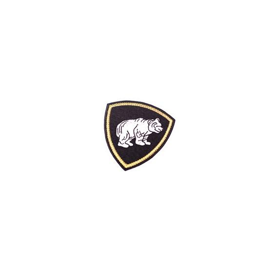 Нашивка на рукав Сибирский округ ВВ Медведь вышивка люрекс