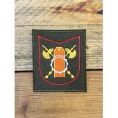 Нашивка на рукав с липучкой 470 кинологический центр ВС РФ 300 приказ олива красный кант вышивка шелк