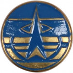 Миниатюрный знак Космические войска металл