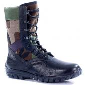 Ботинки облегченные с высокими берцами ТРОПИК кожа-нейлон woodland 1000D 7161Б