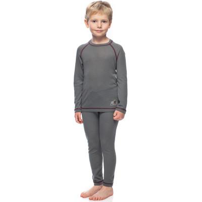 Термобелье футболка с длинным рукавом детская BASK kids MERINO WOOL U SLEEVE серая