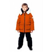 Куртка пуховая BASK kids для мальчика HYPE оранжевая