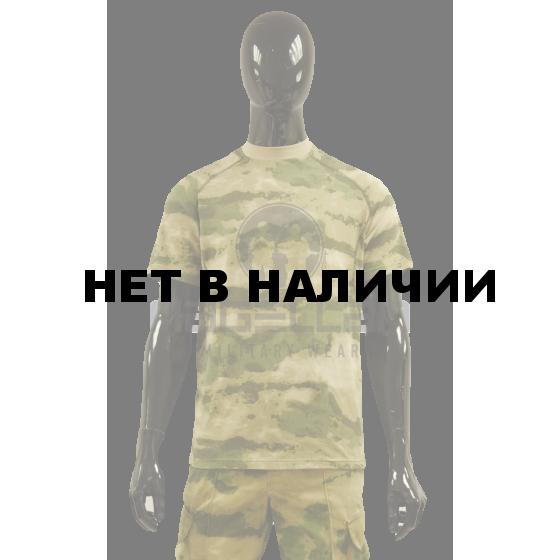 Футболка Росгвардия Мох зеленый (ткань лайкра)