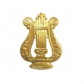 Эмблема петличная Военные музыканты нового образца металл