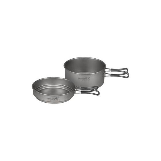 Набор титановой посуды 1 кастрюля, 1 сковородка (950+600)