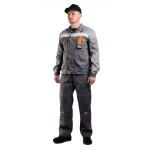 Костюм РОЛЬФ куртка/полукомбинезон, серый/светло-серый, ткань : Твил-210