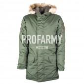 Куртка зимняя Аляска офисная зеленая