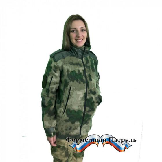 Куртка РОСГВАРДИЯ (флис-330/оксфорд, цвет зеленый мох)