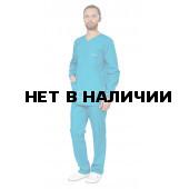 Комплект мужской универсальный с длинным рукавомом цвет бирюза