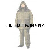 Костюм мужской Престиж зимний, куртка/полукомб.,подклад таффета, ткань Oxsford, цвет хаки-чёрный.