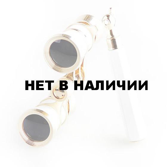 Бинокль театральный Veber Opera БГЦ 3x25 лорнет, белый/золотой
