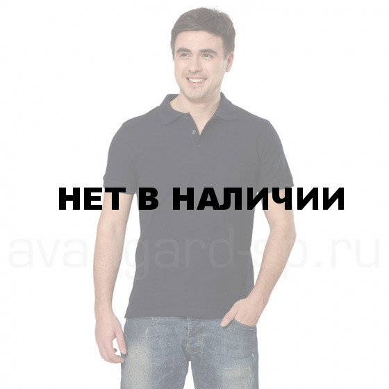 Рубашка-поло с манжетами, 200 г/м.кв., 100% хлопок (цв.т.синий)