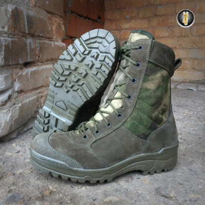 Ботинки с высокими берцами Garsing 0139 AT G.R.O.M. ZIP CAMO A-FG мох