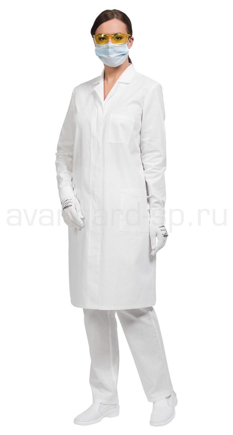 2a80d65bdac7a Халат лабораторный женский, производитель Авангард-спецодежда Купить ...