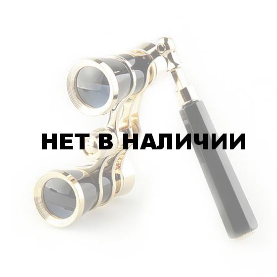Бинокль театральный Veber Opera БГЦ 3x25 лорнет, черный/золотой