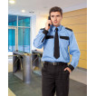 Рубашка охранника, длинный рукав, голубая