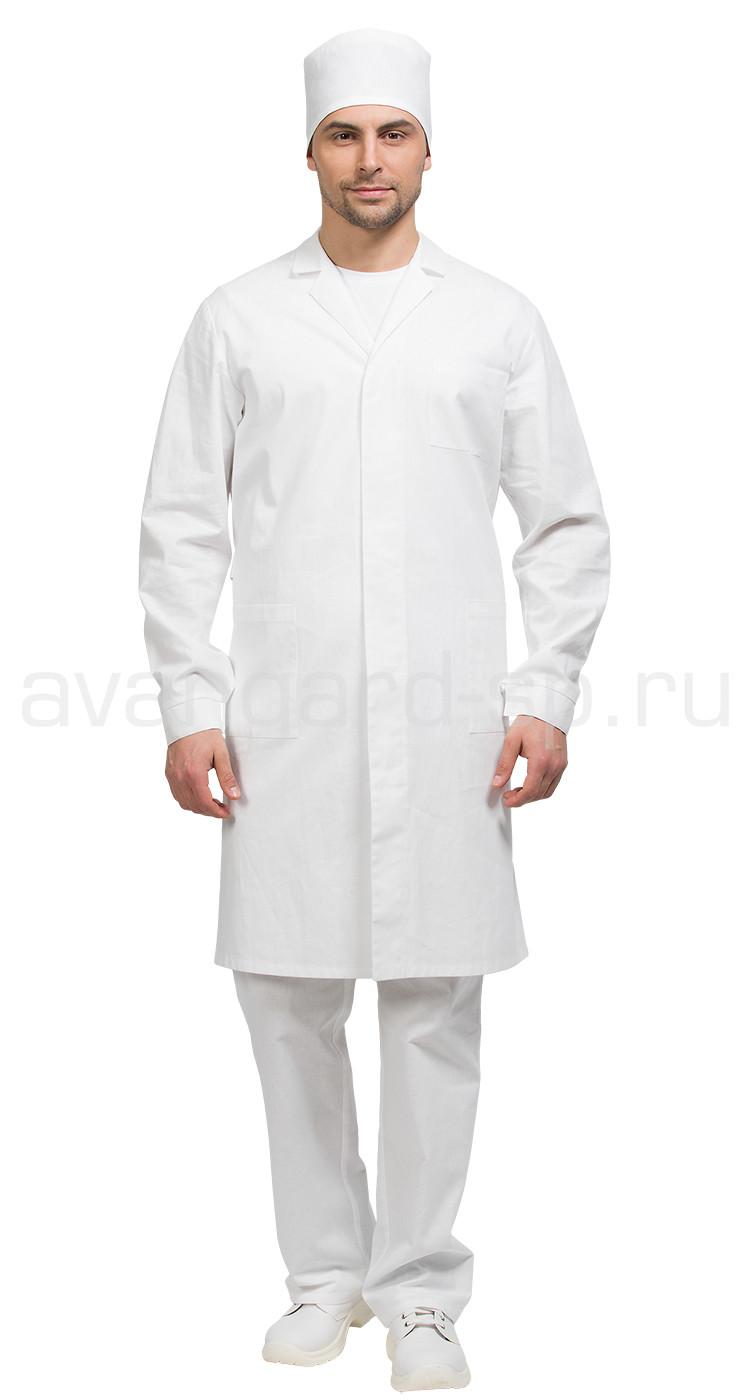 3694cbb3c31e0 Халат лабораторный мужской, производитель Авангард-спецодежда Купить ...
