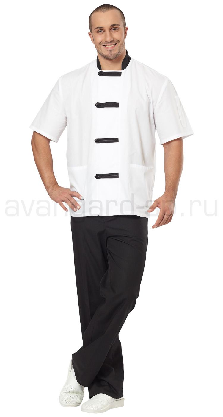af6176091c2d9 Костюм повара мужской Азия (цв. белый + черный), производитель ...