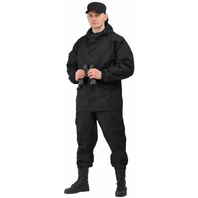 Костюм мужской Горка 3 черная палатка 100% хлопок/рип-стоп