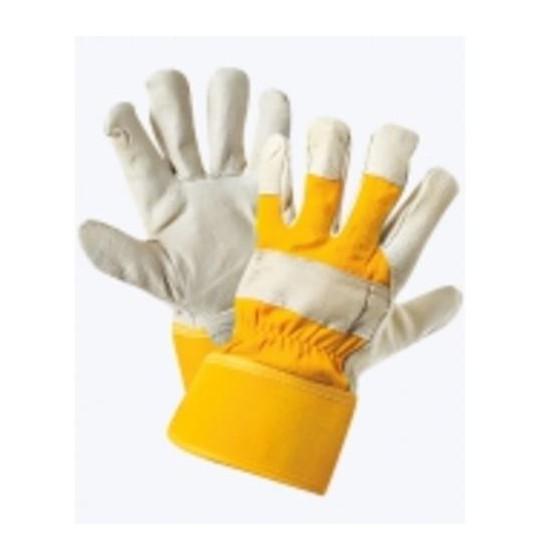 Перчатки комбинированные, ткань -кожа люкс, тип Юкон утепленные