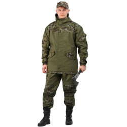 Костюм мужской Горка 3 летний палатка 270 г/м2 хаки 100% хлопок/ рип-стоп Цифра