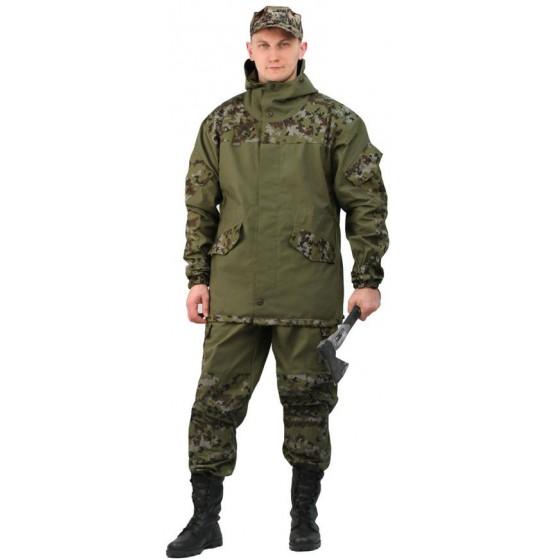Костюм мужской Горка 3 палатка хаки 100% хлопок/рип-стоп Цифра