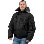 Куртка мужская на поясе Аляска-Премиум черная