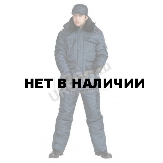 Куртка мужская Охрана зимняя т-синяя