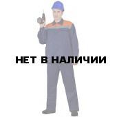 """Костюм летний """"Коммунальщик"""" мужской (синий-оранжевый)"""