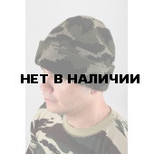 "Шапка трикотажная, камуфляж ""Лес"", двойная вязка, 7 класс"