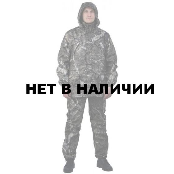 """Костюм мужской """"Филин"""" демисезонный, камуфляж, ткань Полофлис """"Сухой лес"""""""