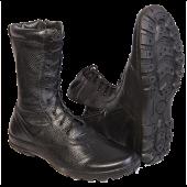 """Ботинки с высоким берцем Утка """"BIZON"""" с молнией, на натуральный меху, кожа хром. """"Флотер"""""""