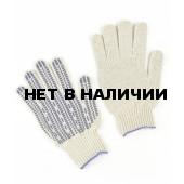 Перчатки х/б Профи-Люкс ПВХ-Протектор 7,5кл (200 пар в уп.)