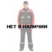 Костюм мужской Базис черный с красным