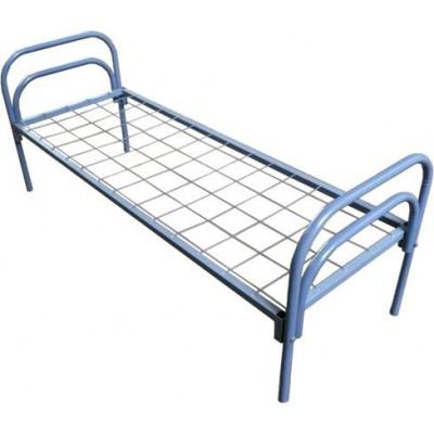 Кровать одноярусная металлическая, порошковое покрытие