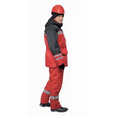Костюм зимний ЗИМНИК куртка/брюки, цвет: красный/черный