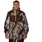 """Флисовый костюм """"Сурок"""", камуфляж """"Белый лес"""" с накладками,300г/м2"""