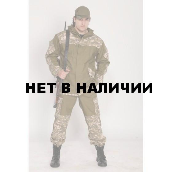 "Костюм мужской ""Горка 3"" летний палатка хаки 100% хлопок / рип-стоп ""Зеленая цифра"""