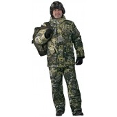 Костюм мужской «Горка-Буран» зимний, камуфляж т.Алова мембрана