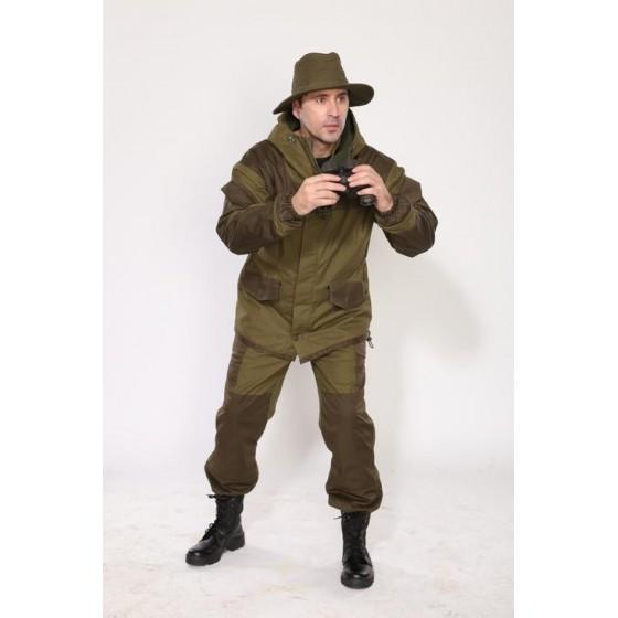 Костюм мужской Горка 3 на флисе палатка хаки 100% хлопок
