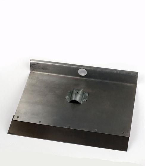 Лопата-движок алюминиевая однобортная с накладкой 12см