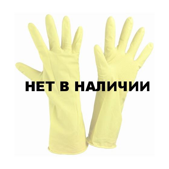 Перчатки хозяйственные латекс безворсовые