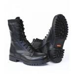 Ботинки с высоким берцем ТРЕК Bizon с молнией, на натуральном меху, кожа хром. Флотер