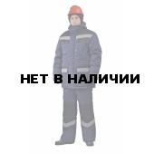 Костюм мужской Передовик зимний с полукомбинезономт-синий с черным