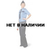 Рубашка женская Охрана (кор. рукав) голубая с т-синим