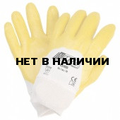 Перчатки с облегченным нитриловым покрытием, манжета, полуобливные (Nitras), арт.03400